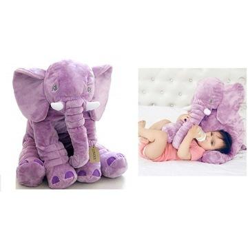 Maskotka Słoń Słonik Elephant Fioletowy Duży
