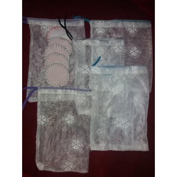 Zestaw woreczki na zakupy + waciki zero waste