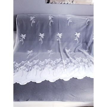 Firana z tiul haft liście wzory 320 x 155