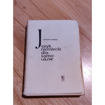 Język niemiecki dla samouków, A. Nikiel, 1960 r.