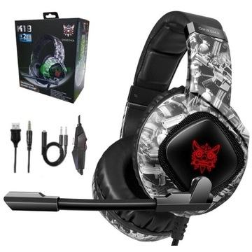 Słuchawki gamingowe z mikrofonem Onikum LED M181