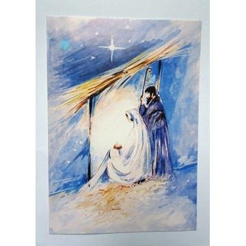 Kartka Boże Narodzenie Józef Maria stajenka