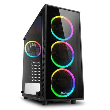 Sharkoon TG4 RGB Obudowa ATX Kontroler LED Filtr