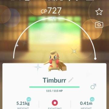 Pokemon Go: SHINY TIMBURR