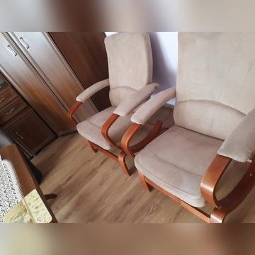 Dwa Fotel fiński krzesło bujany