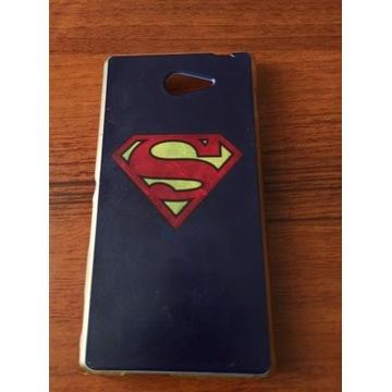 etui guma Superman do telefonu Sony Xperia M2