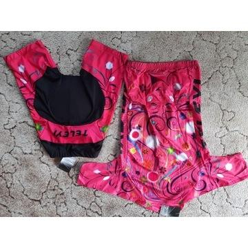 Koszulka, spodenki rowerowe, damskie rozmiar M