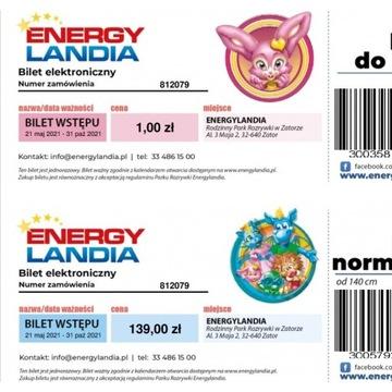 E-Bilet normalny Energylandia + dziecko do lat 3