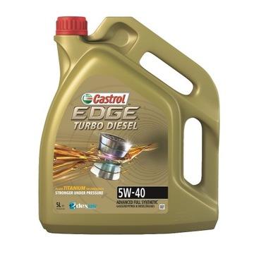 Olej CASTROL EDGE TURBO DIESEL 5W40 5L