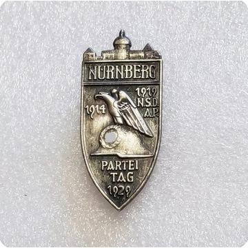 WW2 Niemiecka Odznaka NSDAP 1933 ,Norymberga