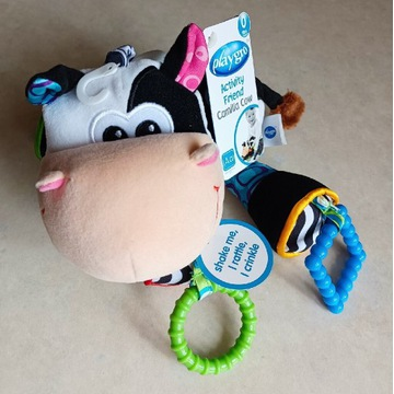Zabawka sensoryczna przywieszka Playgro krowa
