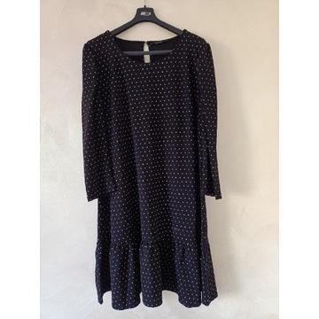 Sukienka mohito rozmiar L czarna elastyczna kropki