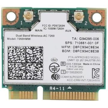 Intel Dual Band Wireless-AC7260HMW PCIe 2.4/5G BT4