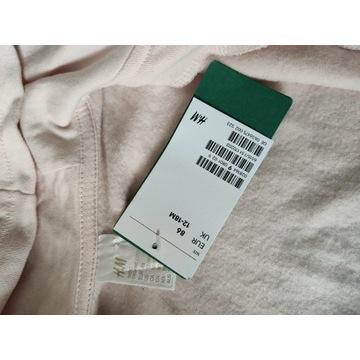 Nowa bluza H&M 86 różowa dziewczęca