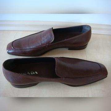 Loafersy PRADA 44 Made in Italy j. NOWE santoni