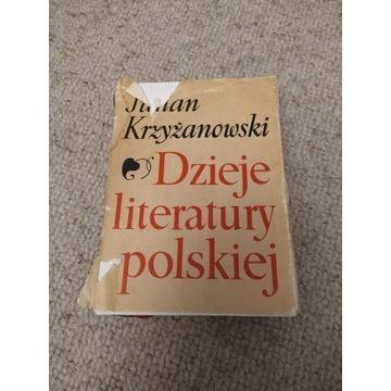 DZIEJE LITERATURY POLSKIEJ Julian Krzyżanowski