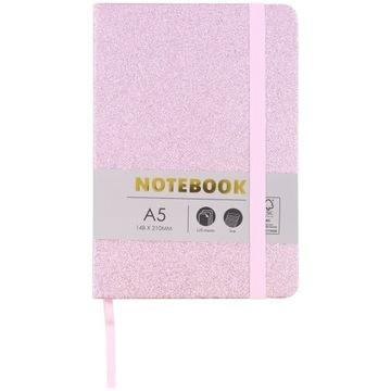 Notatnik Bullet Journal Różowy Brokat - 120 k. A5