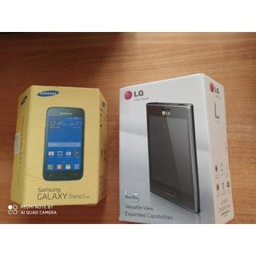 DWA telefony komorkowe LG i Samung Galaxy Trend2