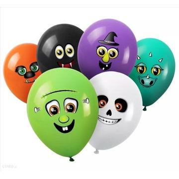 Balony zestaw balonów balony potworki halloween