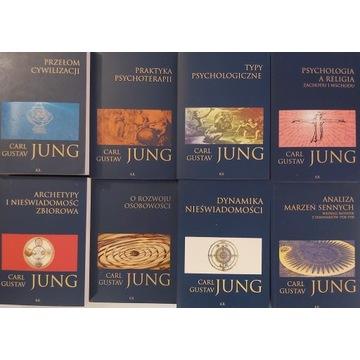 komplet 8 książek carl gustav jung  granat. seria