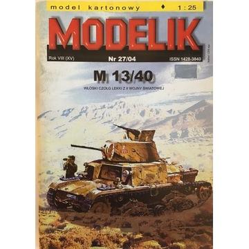 Włoski czołg M 13/40 Modelik 27/04