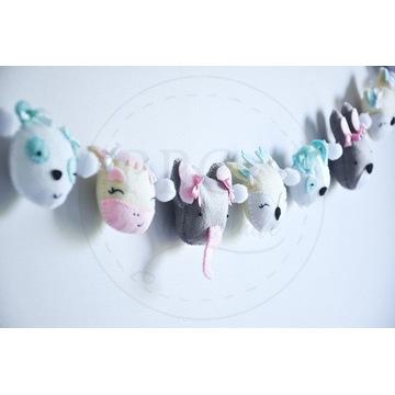 Girlanda pastelowe zwierzaki - dekoracja dziecięca