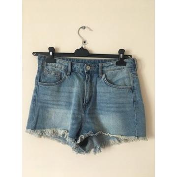 H&M szorty jeansowe wysoki stan 38 M