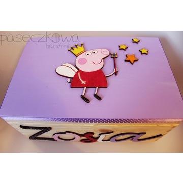 PEPPA Kuferek z imieniem ZOSIA pudełko na zabawki