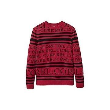 Świetny duży męski sweter z wrabianym wzorem