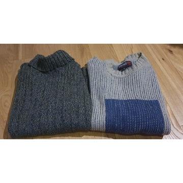 Zestaw 2 markowych,  męskich swetrów