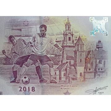 Banknot 0 euro KRAKÓW WAWEL 2018r. UNC