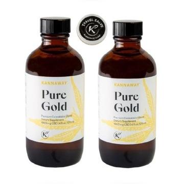 Olej konopny Kannaway Pure Gold CBD 66,5% 2 + maść