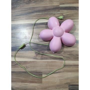 Lampka nocna kwiatek różowy kabel zielony