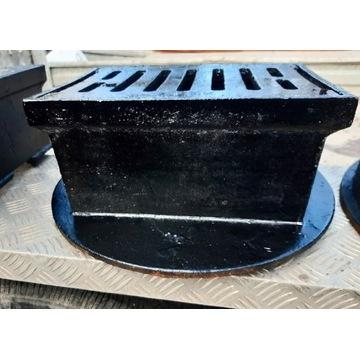 Żeliwny wpust podwórzowy KZO 5 ton 2 sztuki nowe
