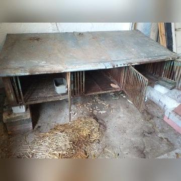 klatka metalowa na króliki 3 komory