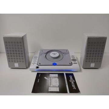 Mini wieża OneConcept USB MP3 CD/R/RW radio zegar