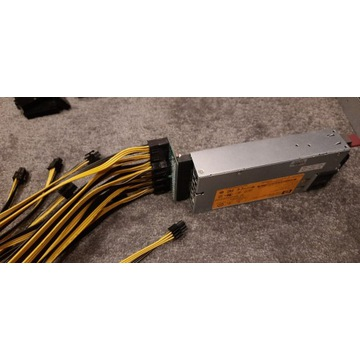 Breakboard 10x PCIE 6PIN do zasilaczy serwerowych