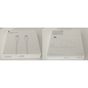 Thunderbolt 3 (USB-C) 0,8m Apple Przewód Kabel