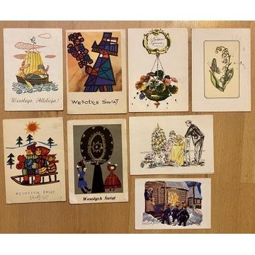 Pocztówki świąteczne PRL