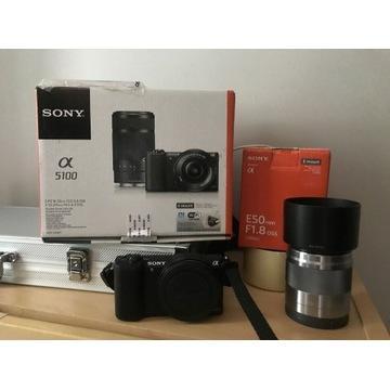 Aparat Sony a5100 i obiektyw Sony E 50mm f/1.8 OSS