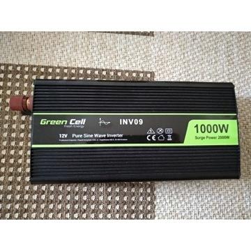 Przetwornica Pure Sine 12V / 1000W - Surge 2000W