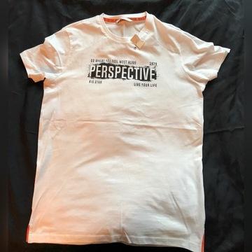 Nowa biała koszulka BIG STAR - męska S