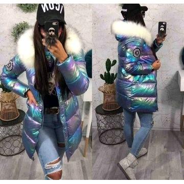 Zimowa kurtka holograficzna