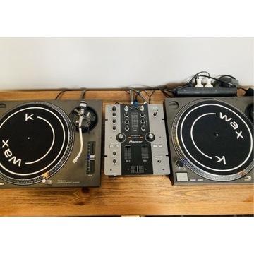 2 x Gramofon Technics 1210mk2 + Pioneer DJM 250