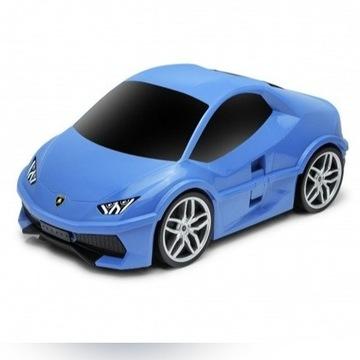 Walizka samochód - Lamborghini Huracan niebieski
