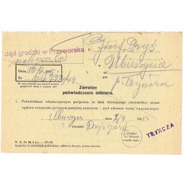 Tryńcza (k.Przeworska) - stemp. prowizor. z 1945 r