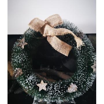 Wieniec na drzwi/okno/stół Bożonarodzeniowy stroik