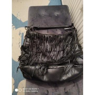 Super miękka czarna torebka z frędzlami H&M