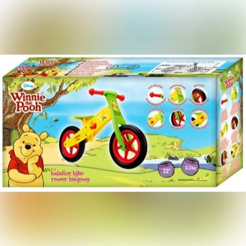 Rower,rowerek BIEGOWY KUBUŚ PUCHATEK-drewniany