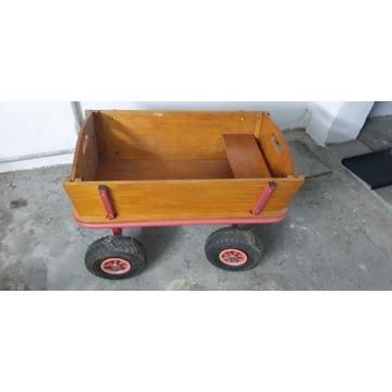 Wózek drewniany drabiniok